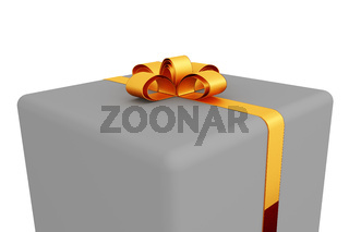Gift box with bow, 3d-Illustration