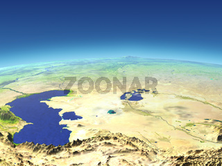 Central Asia from space