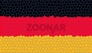 mosaik deutschlandflagge - illustration