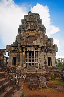 Ta Keo temple, Angkor, Cambodia. Massive unfinished mountain temple