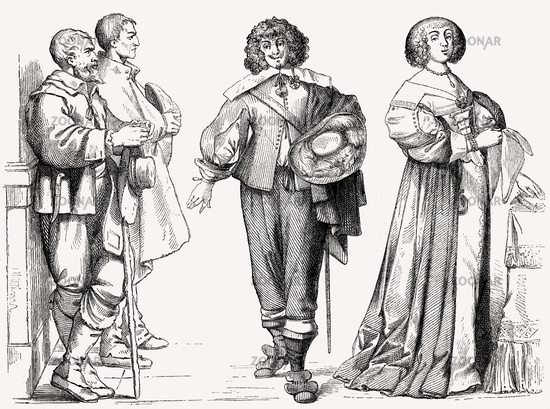 French costumes, 17th century