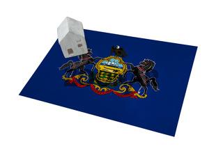 Small house on a flag - Pennsylvania