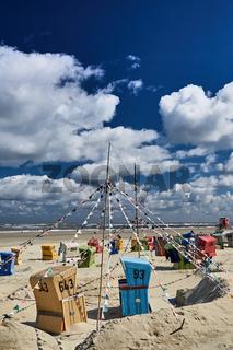 Strandkörbe am Langeooer Strand