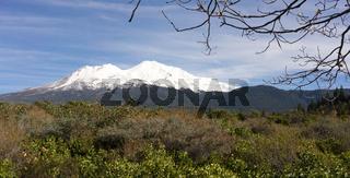 HIgh Ridge Snow Covered Mountain Cascade Range Mt Shasta