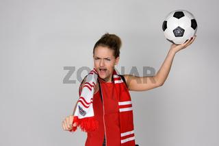 Symbolbild weibliche Fussballfans