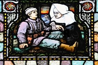 Nonne und Soldat