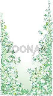 Refined Floral vignette In Color