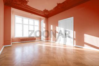 empty room in classical restored building  - real estate interior -