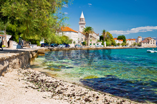 Kastel Stafilic landmarks and turquoise beach view