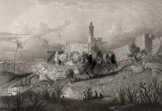 The Jebusite fortress Zion, Jerusalem