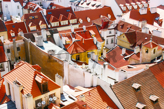 Prague Roof tops in the day. Czech Republic