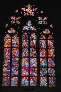 Kirchenfenster, St.-Veits-Dom, Veitsdom, Prager Burg, Burgvierte