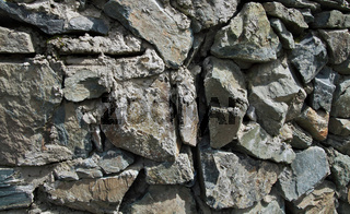A wall of natural stone