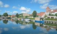 Village of Plau am See,Mecklenburg Lake District,Germany