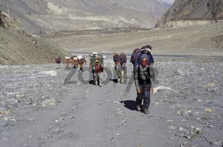Sherpas im Mustang Gebiet, Jomosom Trek, Annapurna Himal, Nepal