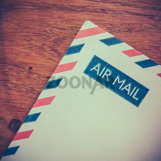 Retro Air Mail Envelope