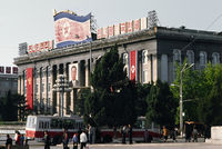 Kim Il Sung square in Pyongyang