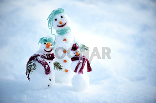 Snowman for winter christmas