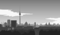 Skyline of Berlin, illustration