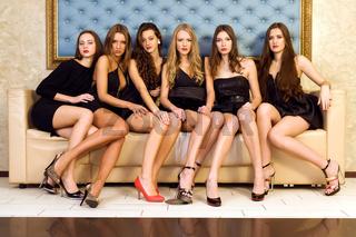 Group of  beautiful models