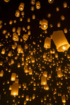 Chiang Mai, Thailand - Sky lanterns at Yi Peng Festival