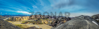 Panorama of Landmannalaugar, scenic highland area in Iceland