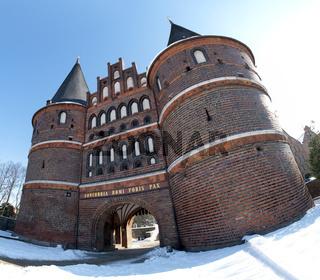 Holstentor Lübeck im Winter