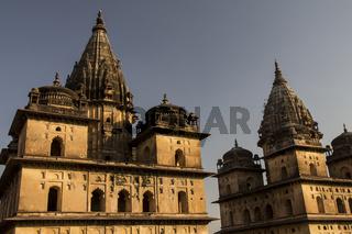 Chhatris in Orchha. Madhya Pradesh, India