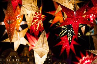 Weihnachtssterne mit Beleuchtung