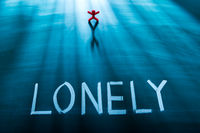 Lonely person concept