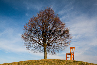 The old chair on the golf course