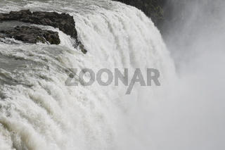 Gullfoss (the Golden Falls) waterfall. The canyon of the Hvítá  river