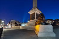 Pedestal Nelson's Column in Trafalgar Square with four lions lying
