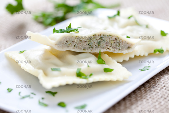 ravioli with meat filling