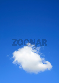 Clear blue sky with one cloud