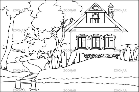 House Pictures To Color  Vosvetenet