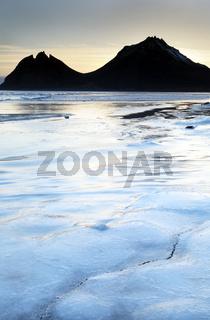Frozen coast in Iceland