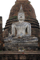 Buddha and stupa