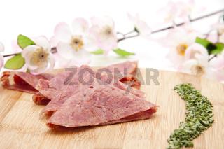 Corned Beef mit Blueten