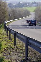 Rural Road with crash barrier