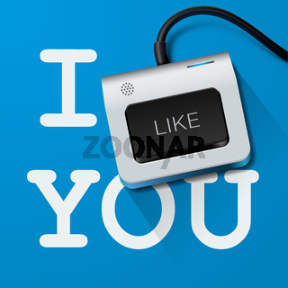 I like you with Keyboard key