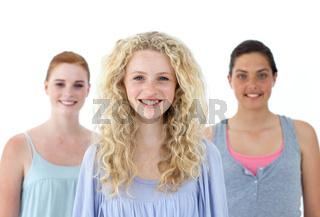 Beautiful tennage girls smiling