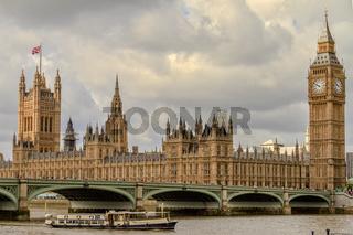 Parliament Buildings and Westminster Bridge London UK