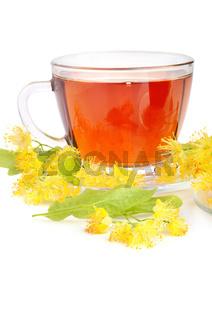 Cup with linden tea