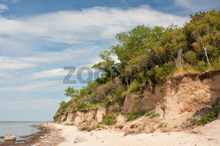 Steilküste an der Ostsee auf der Insel Poel