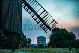 big brown windmill in Berlin