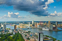 Rotterdam and the Erasmus bridge
