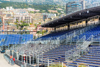 MONACO - MAY 02: Tribune mounting. Three weeks until of opening the Grand Prix Automobile F1 on May 02, 2013 in Monaco. The Monaco Grand Prix is a Formula One motor race held each year on the Circuit de Monaco, run since 1929. This year Grand Prix Automob