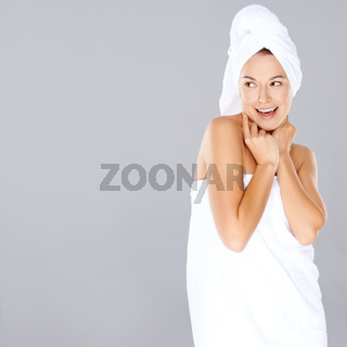 Woman enjoying a spa treatment