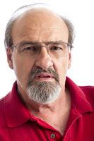Angry adult man